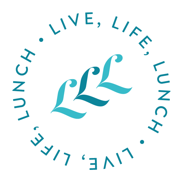 Live, Life, Lunch logo